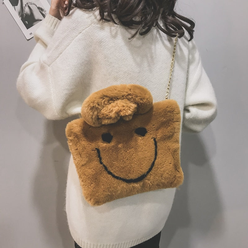 SMILEY PLUSH PURSE