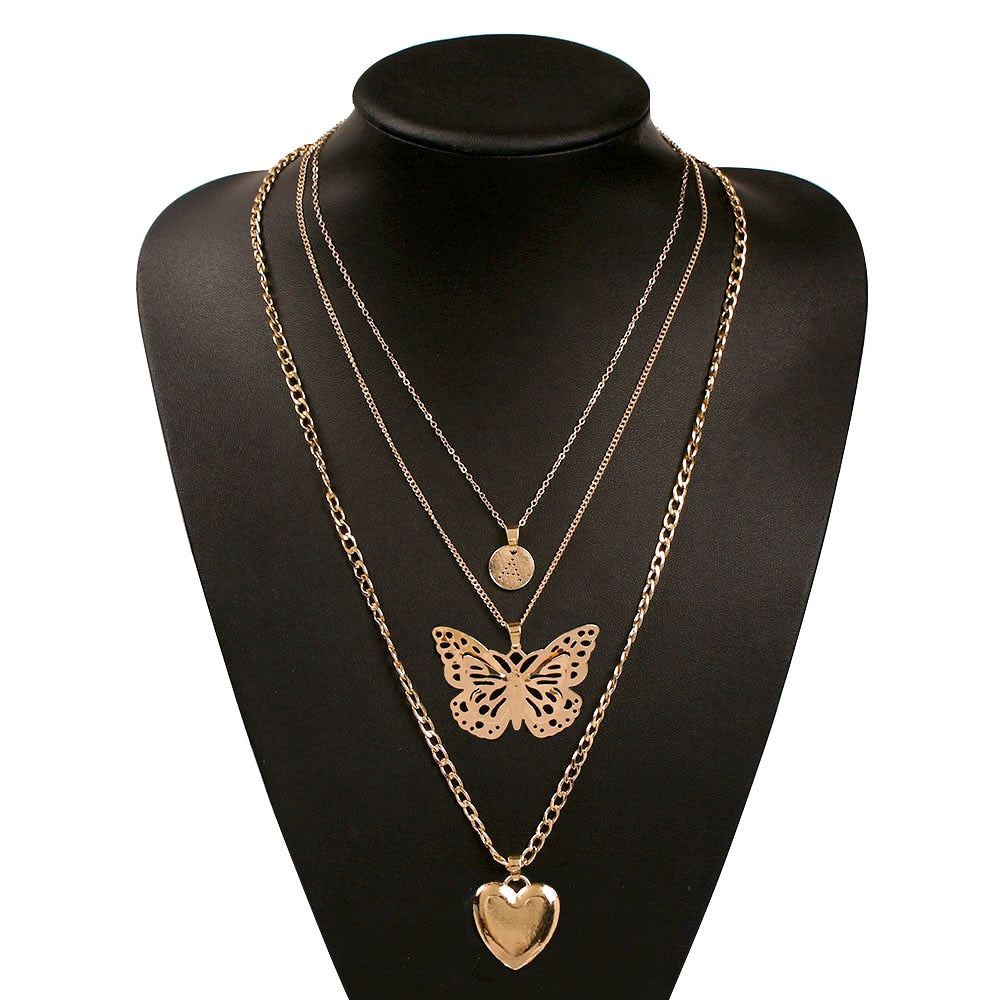 BUTTERFLY NECKLACE SET