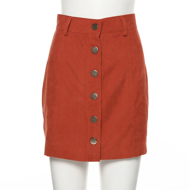 CORDUROY HIGH WAIST SKIRT