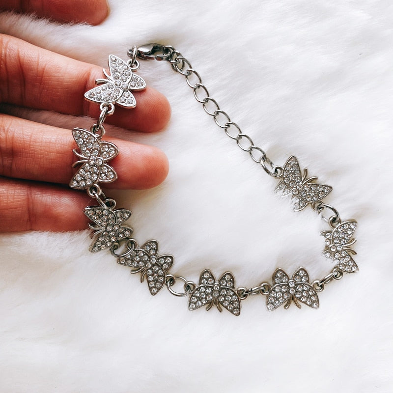 BUTTERFLY BLING CHOKER