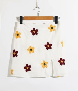 SEND ME FLOWERS SKIRT