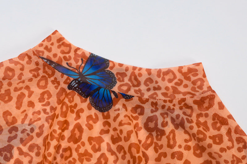 BUTTERFLIES AND CHEETAHS DRESS