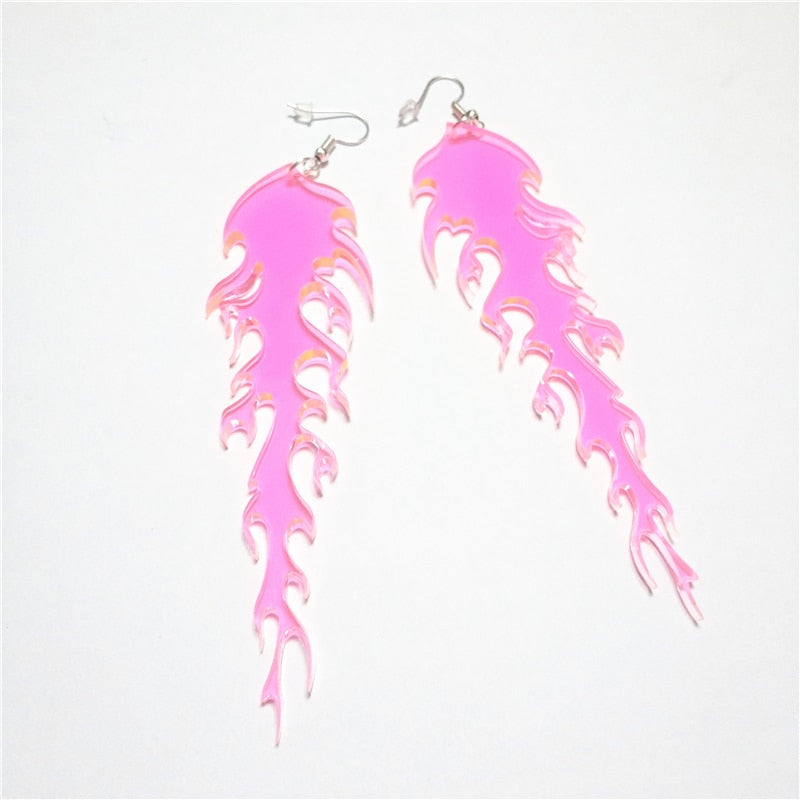 ACRYLIC FIRE EARRINGS