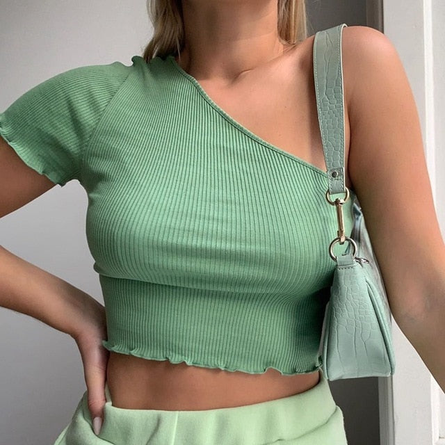 ONE SLEEVE TOP
