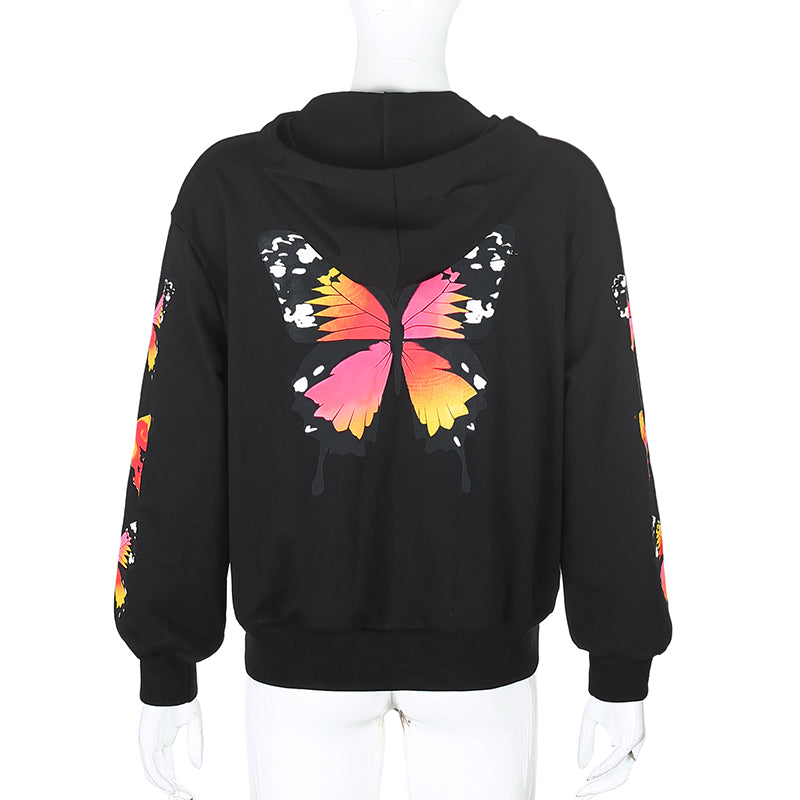 BUTTERFLY ZIP UP JACKET