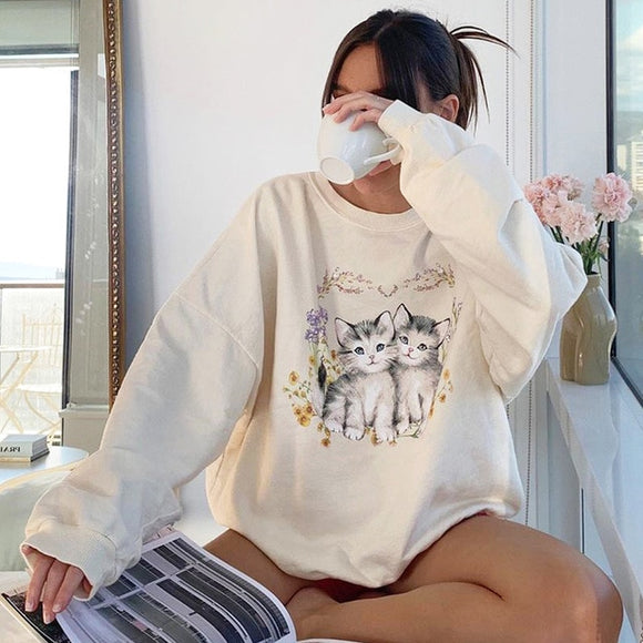CUDDLE WITH CATS SWEATSHIRT