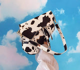 Cow Print Saddle Bag