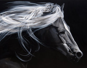 "Large Horse Greetings Card ""Lucid Journey"""