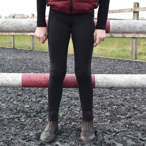 Childrens Sport Riding Tights/Leggings - Black