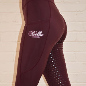 Sport Riding Tights/Leggings - Sangria