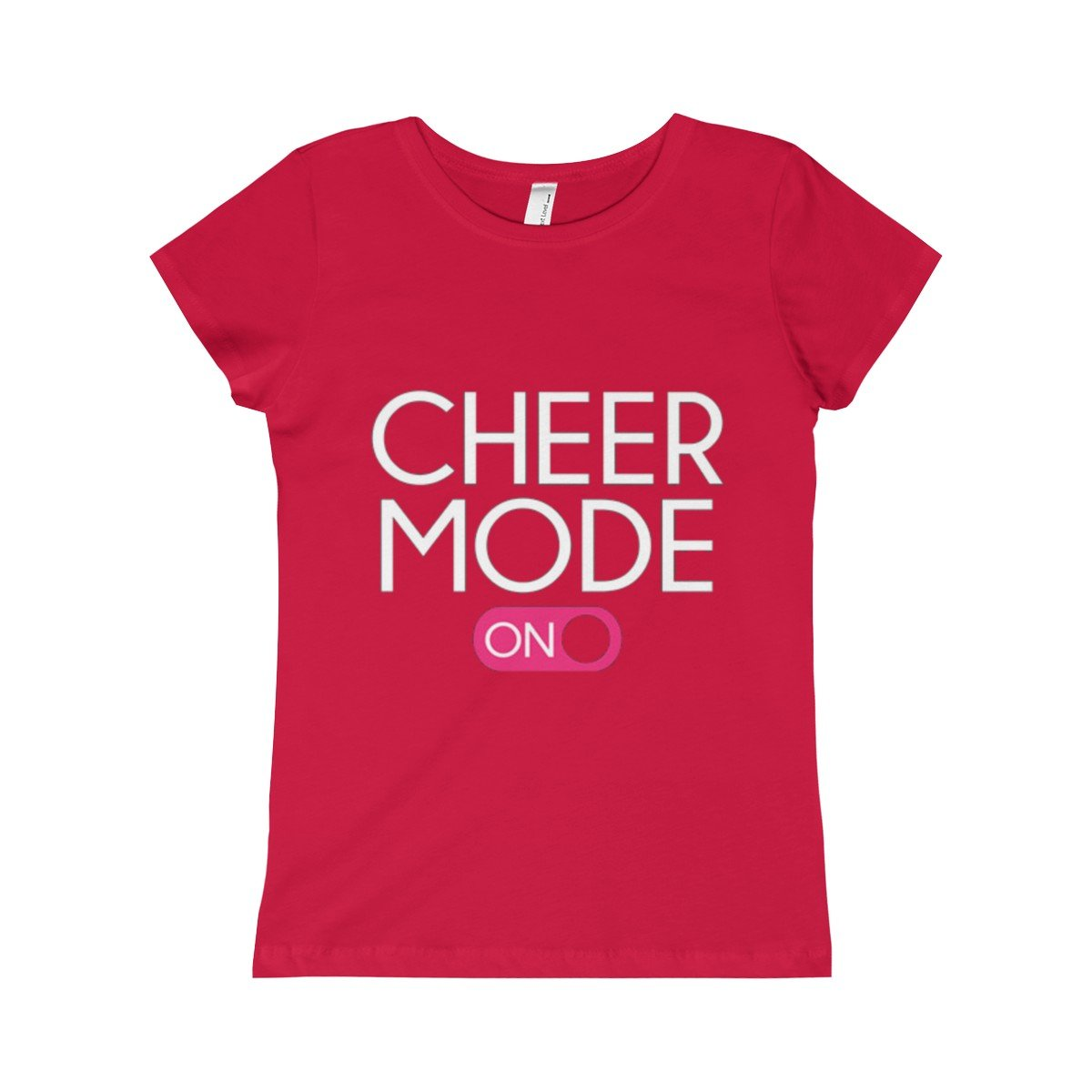 Girls Cheer Mode Princess Tee