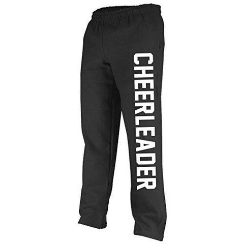 Varsity Cheerleader Sweatpants | Cheer Apparel by ChalkTalk SPORTS | Black/White | Adult Mediun - Eatsleepflip