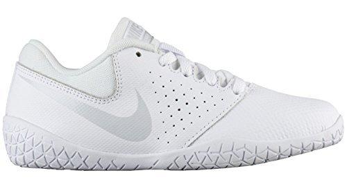 NIKE Girl's Youth Cheer Sideline IV Cheerleading Shoes (3 M US Little Kid, White/Pure Platinum/White) - Eatsleepflip