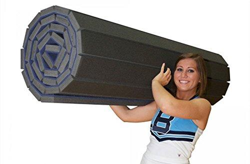 Incstores Deluxe Carpet Top Cheer Mats 5ft x 10ft x 1-3/8in Perfect for Cheerleading, Gymnastics, Exercise & Practice Pads (Blue) - Eatsleepflip