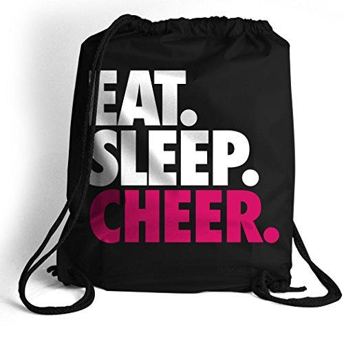 Eat. Sleep. Cheer. Cinch Sack | Cheerleading Bags by ChalkTalk SPORTS | Black - Eatsleepflip
