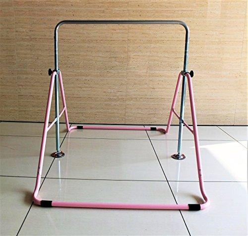 Kids Jungle Gymnastics Expandable Junior Training Monkey Bars Climbing Tower Child play Training Gym Pink - Eatsleepflip