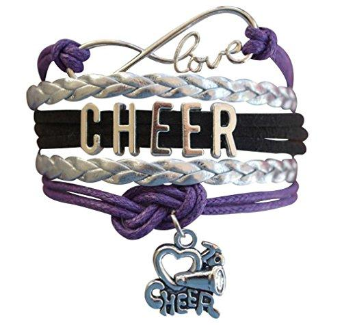 Cheer Bracelet- Girls Cheerleading Infinity Adjustable Bracelet- Cheer Jewelry For Cheerleader - Eatsleepflip