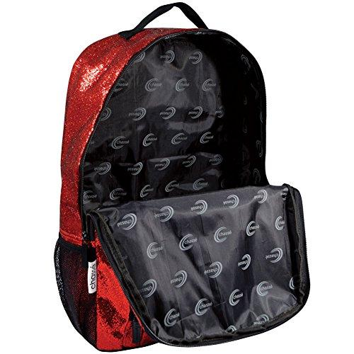 Chassé Girls' Glitter Backpack - Red - Eatsleepflip
