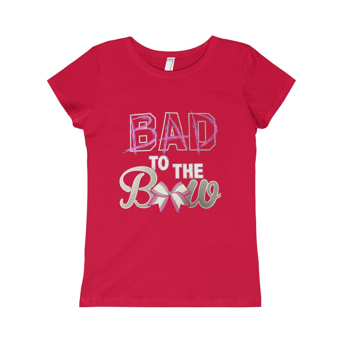 Girls Bad to the Bow Princess Tee