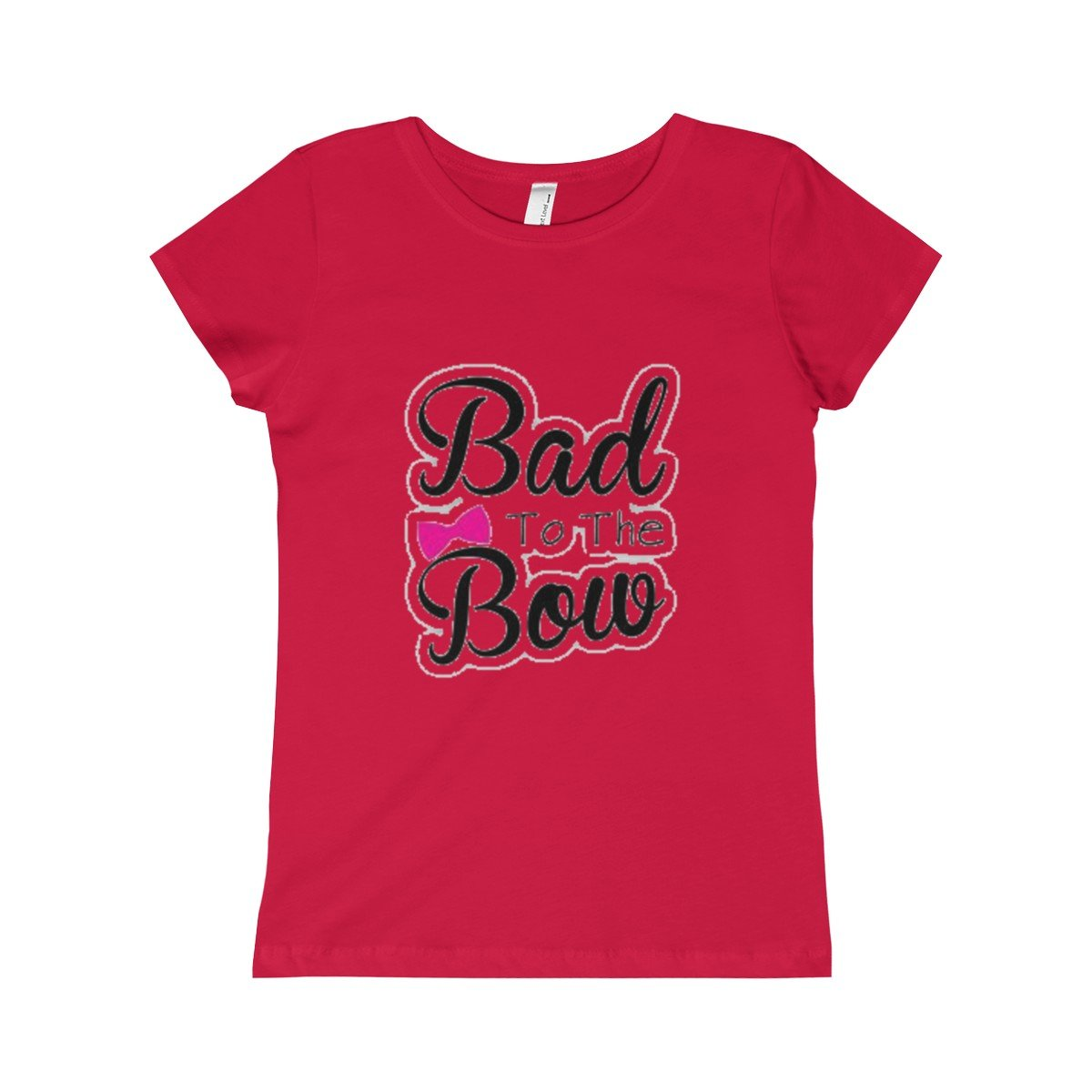 Girls Bad to Bow Princess Tee