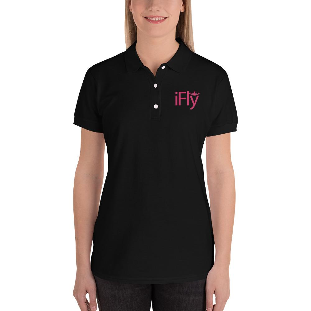 iFLY Embroidered Women's Polo - Eatsleepflip