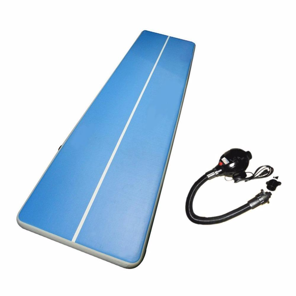 Soft Inflatable Gym Mat Air Floor Tumbling Track Gymnastics Cheerleading Mat Trick Pad For Taekwondo Gym Sports Electric Pump - Eatsleepflip