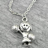WYSIWYG 22x15mm Girl Cheerleaders Necklace Jewelry Gift For Women - Eatsleepflip