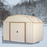 Lexington 10 x 8 ft. Taupe/Eggshell Barn Style Steel Storage Shed