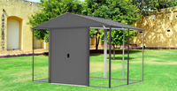 Ironwood 10 x 8 ft. Anthracite Galvanized Steel Hybrid Shed Kit