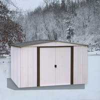 Newburgh 10 x 8 ft. Coffee/Eggshell Steel Storage Shed