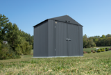 Arrow Elite Steel Storage Shed, 8x6, Anthracite