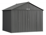 EZEE 10 x 8 ft. Charcoal Galvanized Extra High Gable Steel Storage Shed