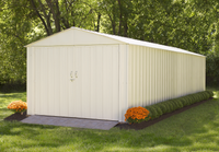 Commander 10 x 25 ft. Steel Storage Building Eggshell