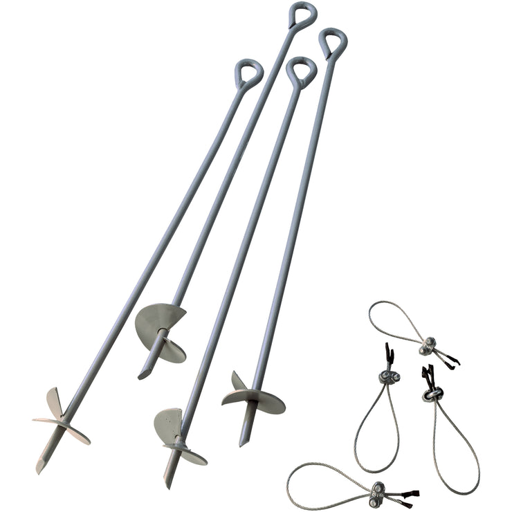 Accessories - ShelterAuger Earth Anchors 30 In. 4-Pack