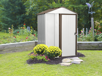 Newburgh 5 x 4 ft. Coffee/Eggshell Steel Storage Shed