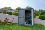 Arrow 6 x 4 ft. Charcoal/Cream Galvanized Shed-in-a-Box