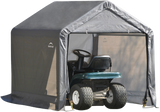 "ShelterLogic 6x6x6 Grey Peak Style 1-3/8"" Frame Storage Shed"