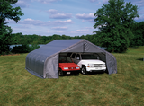 Garage Kit - ShelterCoat Gray 22 X 20 Peak Portable 2 Car Garage