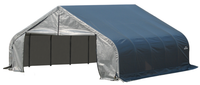Garage Kit - ShelterCoat Gray 22 X 24 Peak  Portable 2 Car Garage