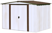 Newburgh 8 x 6 ft.  Coffee/Eggshell Steel Storage Shed