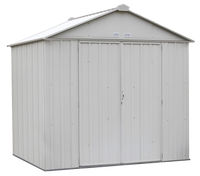 EZEE 8 x 7 ft. Cream Galvanized High Gable Steel Storage Shed