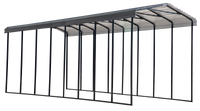 Arrow 14x38x14 Charcoal RV Carport