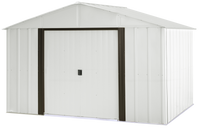 Arlington 10 x 8 ft. Eggshell/Coffee Steel Storage Shed