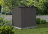 EZEE 6 x 5 ft. Charcoal Galvanized Low Gable Steel Storage Shed