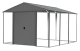 Ironwood 10 x 12 ft. Anthracite Galvanized Steel Hybrid Shed Kit