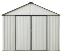 EZEE 10 x 8 ft. Cream/Charcoal Galvanized Extra High Gable  Steel Storage Shed
