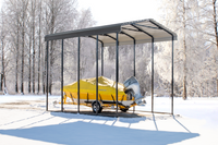 Arrow 14x20x14 Charcoal RV Carport
