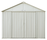 EZEE 10 x 8 ft. Cream Galvanized Extra High Gable Shed Steel Storage