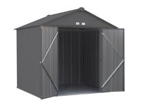 EZEE  8 x 7 ft. Charcoal Galvanized High Gable  Steel Storage Shed