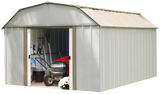 Lexington 10 x 14 ft. Taupe/Eggshell Barn Style Steel Storage Shed